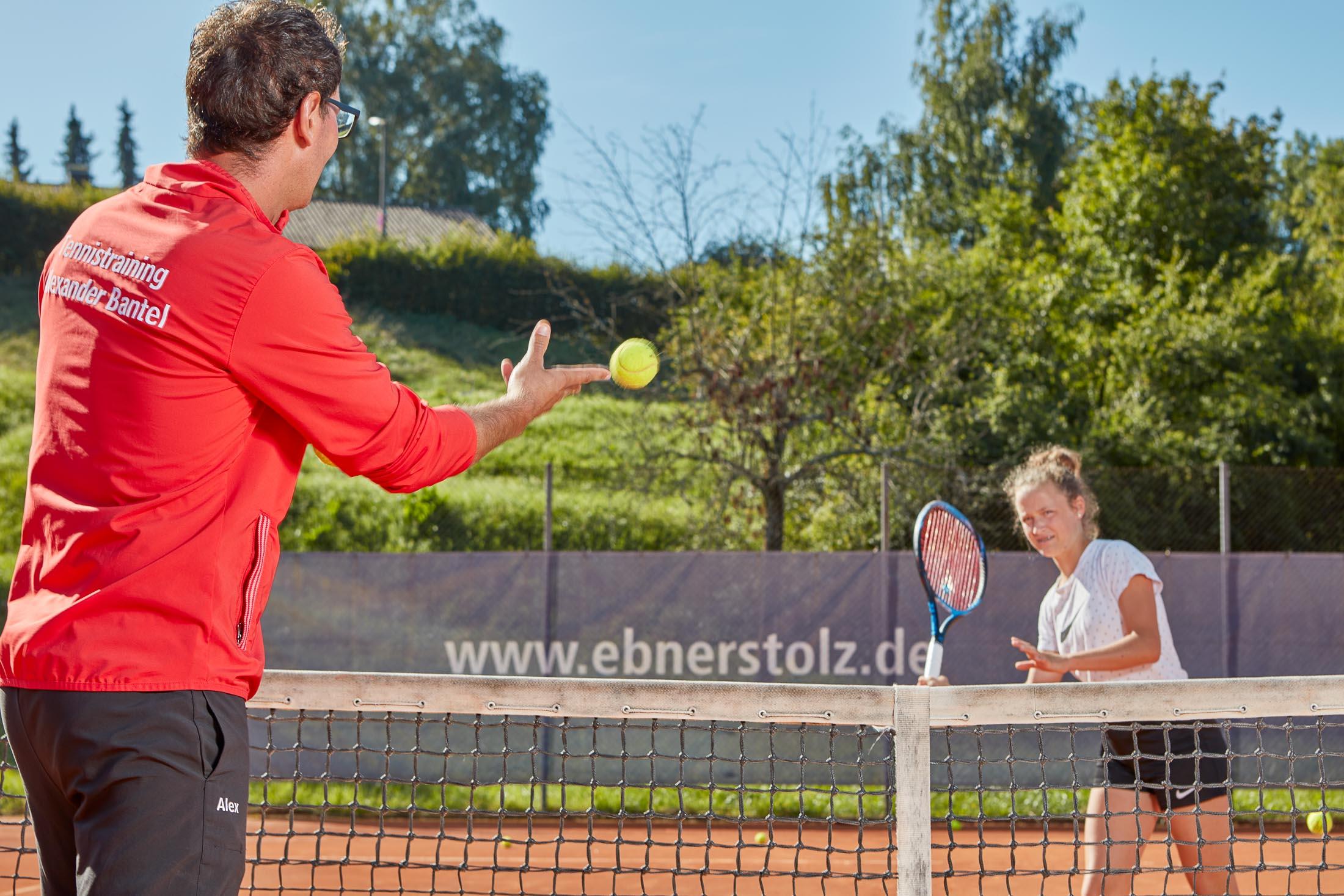 Tennistraining Alexander Bantel